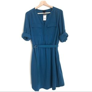 Mossimo Turquoise dress w/belt and pockets.